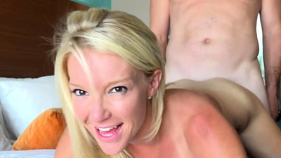 Hot blonde Laura is taken to..