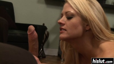 Blonde Holly has fun with..