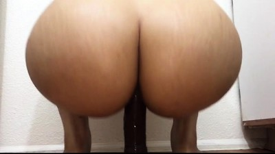 Solo Ass Toying On A Couch