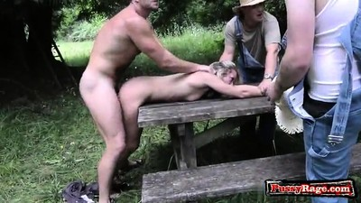 Hot pornstar outdoor with..