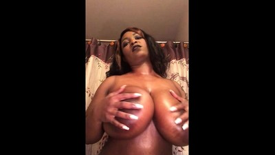 Ebony milf reveals her big..