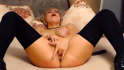 Real Blonde Enjoying Use Her..