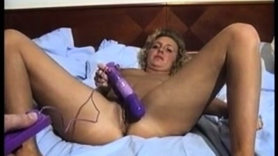 Amateur Mature Blonde Toying..