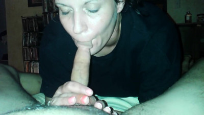 Whore giving a pov blowjob..