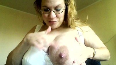 huge milky lactating breast