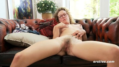 Hairy Babe in Glasses Has..