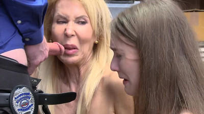 Teen and her grandma banged..