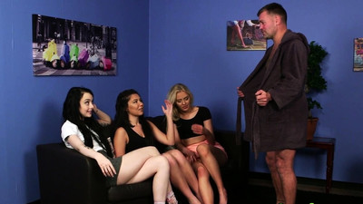 Clothed english babes tug