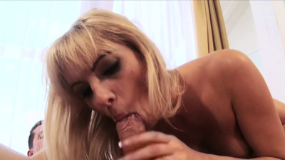 Riding a cock pleases her..