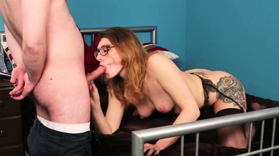 Spicy model gets cumshot on..