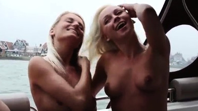 Party girl blonde outdoor A..