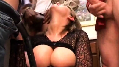 Vintage threesome group sex..