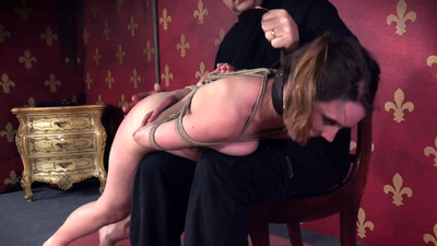 Gorgeous submissive spanked..