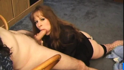 MILF blowjob and facial..
