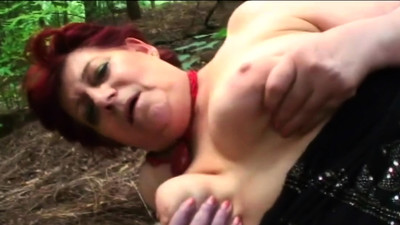Chubby old whore digging..