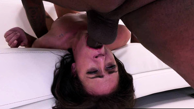 Slim brunette facefucked by..