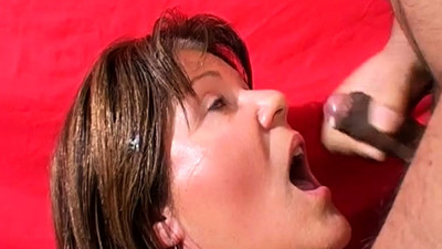 Mature Stacy takes a heavy..