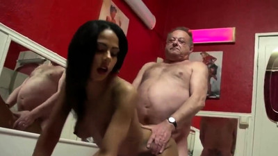 Fat man fuck young whore