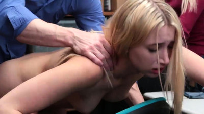 Blonde fuck in public shop..