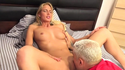 Long shaft drills her shaved..