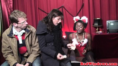Ebony prostitute screwed and..