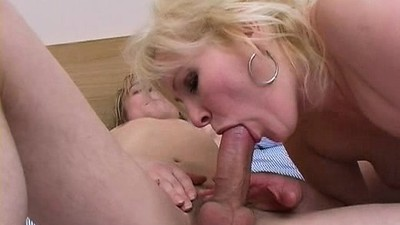 Blonde Mature With Young Stud