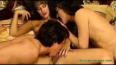 Amazing FFM classic threesome