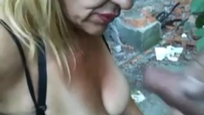 Flash and Cum on tits of..