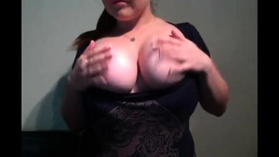 MILF with enormous boobs on..