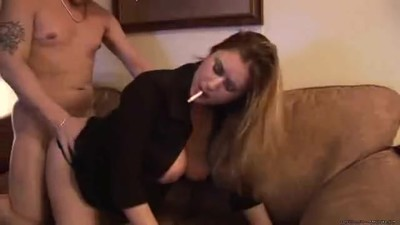MILF wife smokes and fucks..