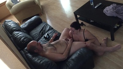 Cock Hungry Wife Sucking Off..