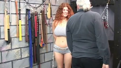 Redheaded slave gets..