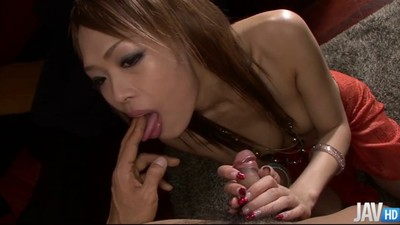 Asian MILF Rina licks ass..