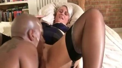 Silver-haired British MILF..