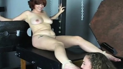 Naked woman flogging video..
