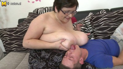 Big busty mother fucks her..
