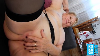 Hot granny get her delicious..