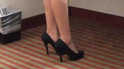 high heel tease