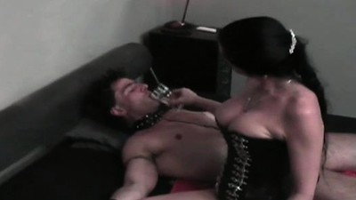 Slave fastened up and..