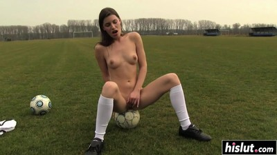 Soccer slut loves to..