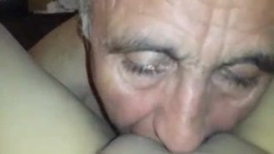 Turkish Grandpa Licking..