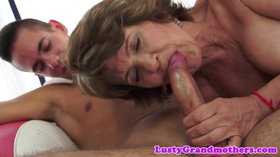 Chubby mature pounded after..