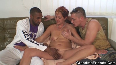 Granny takes two big cocks
