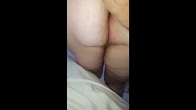 wifes big white hairy ass