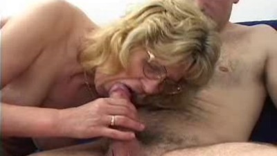 Blonde Granny in Glasses..