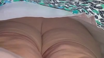 Fat white milf upskirt