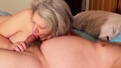 Older Lady Sucking A Cock..