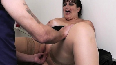 Boss pounds big tits..