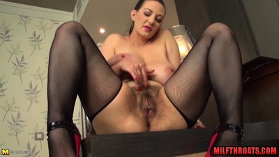 Big tits milf dildo with..