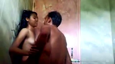 indian teen in shower with..